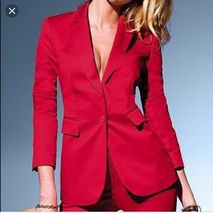 Body by Victoria Secret Fitted Red Blazer